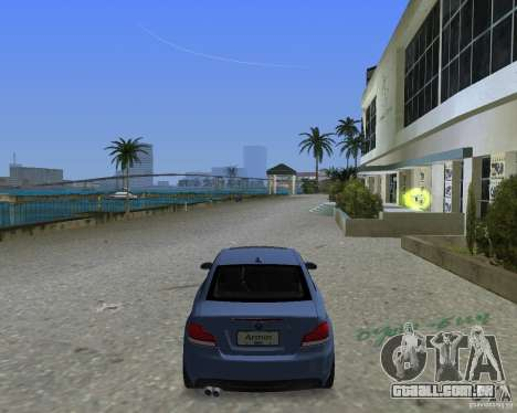 BMW 135i para GTA Vice City vista traseira esquerda