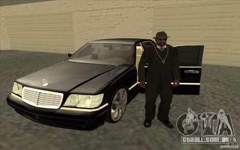 Mercedes-Benz S600 para GTA San Andreas vista interior