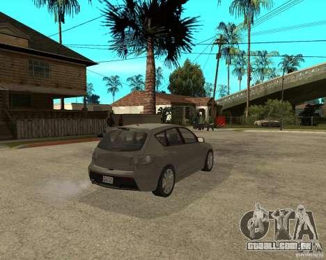 Mazda 3 Sport 2003 para GTA San Andreas traseira esquerda vista