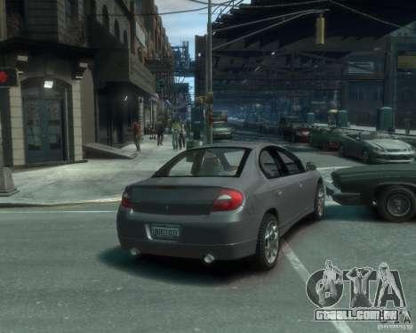 Dodge Neon 02 SRT4 para GTA 4 traseira esquerda vista