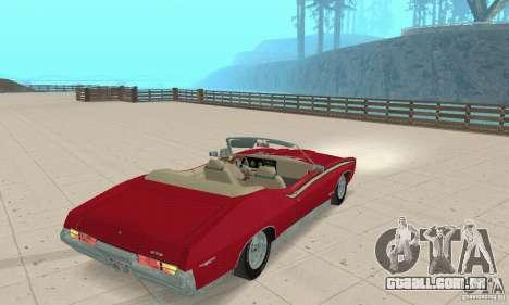 Pontiac GTO The Judge Cabriolet para GTA San Andreas esquerda vista