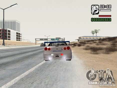 Nissan Skyline GTR34 FNF2 para GTA San Andreas esquerda vista
