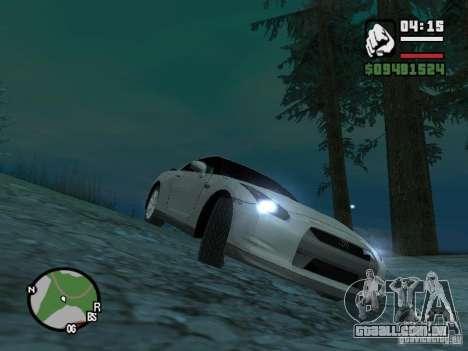 Nissan Skyline GTR para GTA San Andreas esquerda vista
