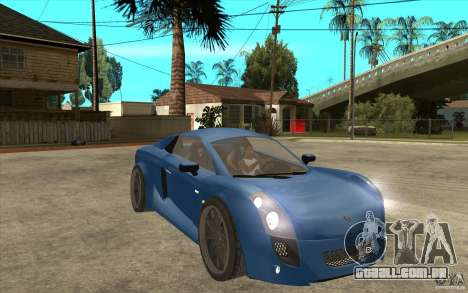 Mastretta MXT v1.1 para GTA San Andreas vista traseira