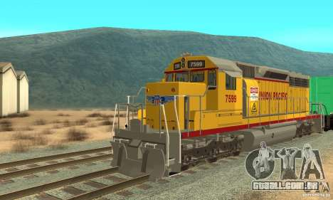 Locomotiva SD 40 Union Pacific para GTA San Andreas esquerda vista