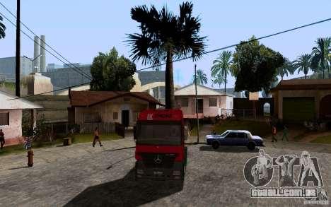 Mercedes-Benz Actros Lukoil para GTA San Andreas esquerda vista