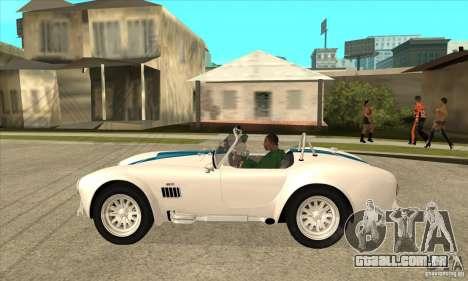 AC Shelby Cobra 427 1965 para GTA San Andreas esquerda vista