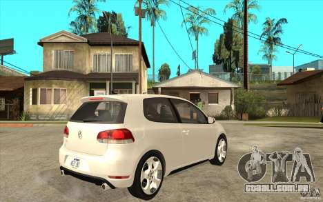 VW Golf 6 GTI para GTA San Andreas vista direita