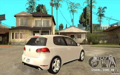 VW Golf 6 GTI para GTA San Andreas vista direita