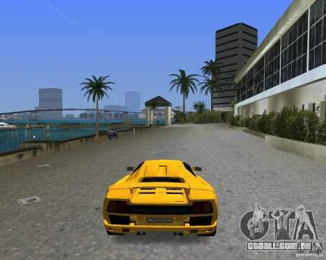 Lamborghini Diablo SV para GTA Vice City deixou vista