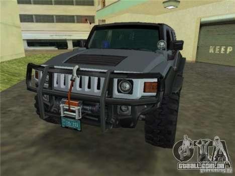 Hummer H3 SUV FBI para GTA Vice City vista traseira esquerda