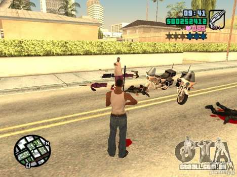 Vice City Hud para GTA San Andreas sexta tela