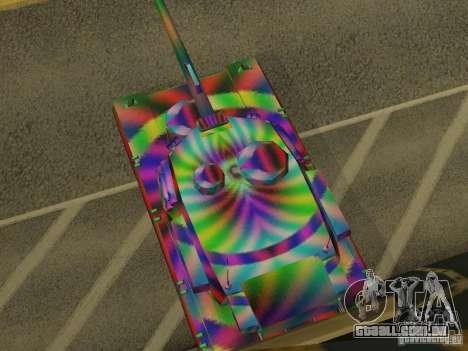 Um tanque de cor alegre para GTA San Andreas vista direita