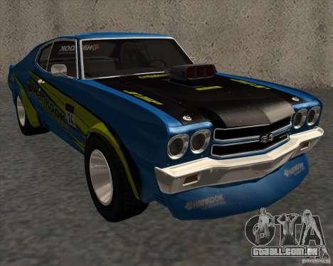 Chevrolet Chevelle SS 1970 para GTA San Andreas traseira esquerda vista