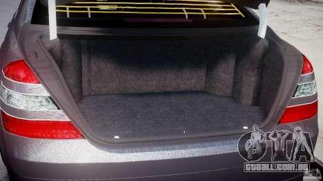 Mercedes-Benz S-Class W221 BRABUS SV12 para GTA 4 vista interior