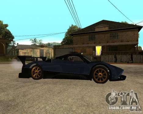 Pagani Zonda R para GTA San Andreas vista direita