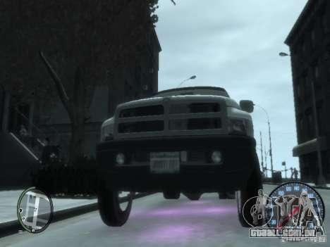 Dodge Ram 3500 para GTA 4 vista interior