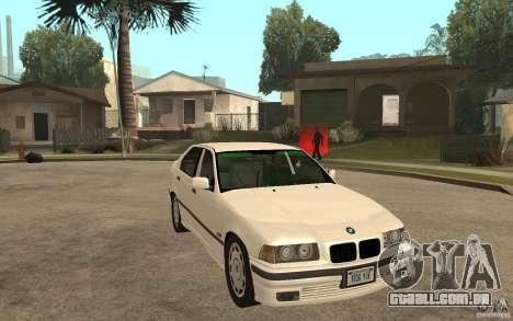 BMW 320i E36 para GTA San Andreas vista traseira