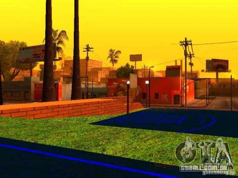 Quadra de basquete para GTA San Andreas por diante tela