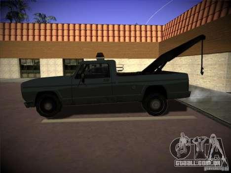 Caminhão de reboque de Sadler para GTA San Andreas esquerda vista