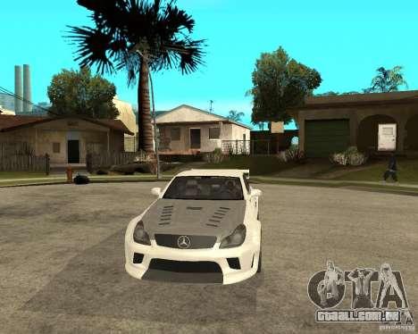 MERCEDES CLS 63 AMG TUNING para GTA San Andreas vista traseira