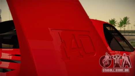 Ferrari F40 1987 para o motor de GTA San Andreas