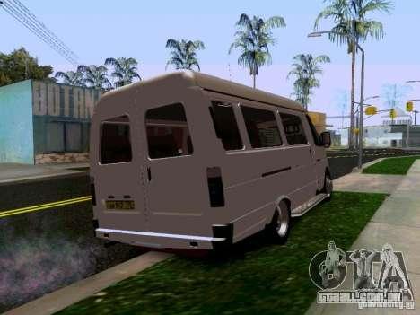 Gazela 32213 1994 para GTA San Andreas traseira esquerda vista