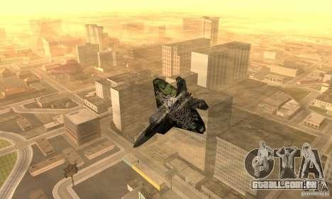 F-22 Raptor Graffity Skin 2 para GTA San Andreas esquerda vista