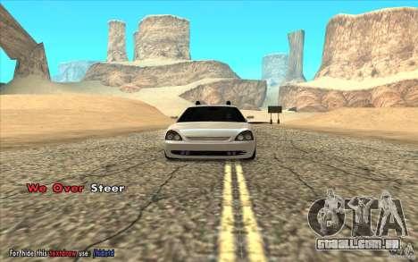 Lada Priora Final Tuning para GTA San Andreas traseira esquerda vista