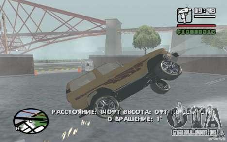 Toyota Land Cruiser 70 para GTA San Andreas traseira esquerda vista