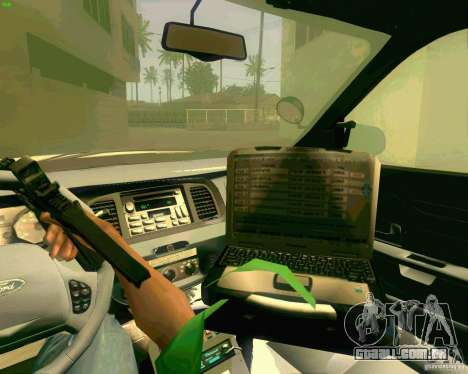 Ford Crown Victoria 2003 NYPD police para GTA San Andreas vista superior