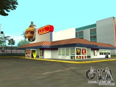 Mc Donalds para GTA San Andreas sétima tela