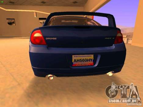 Dodge Neon SRT4 2006 para GTA San Andreas traseira esquerda vista
