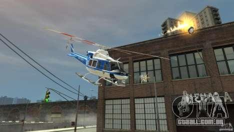 Bell412/NYPD Air Sea Rescue Helicopter para GTA 4 traseira esquerda vista