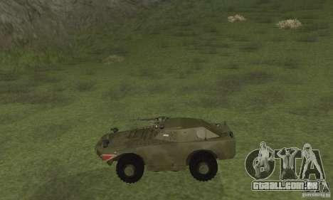 BRDM-1 pele 4 para GTA San Andreas traseira esquerda vista