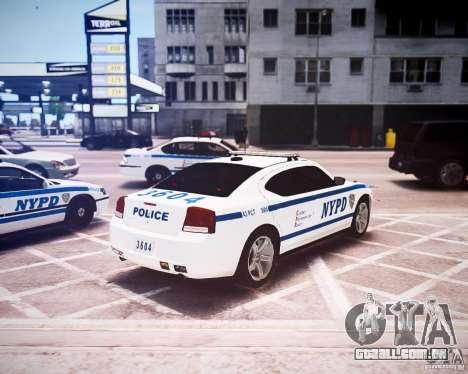 Dodge Charger 2010 NYPD ELS para GTA 4 vista de volta