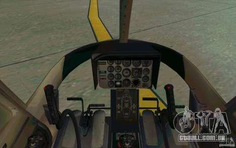 Bell 206 B Police texture4 para GTA San Andreas vista traseira