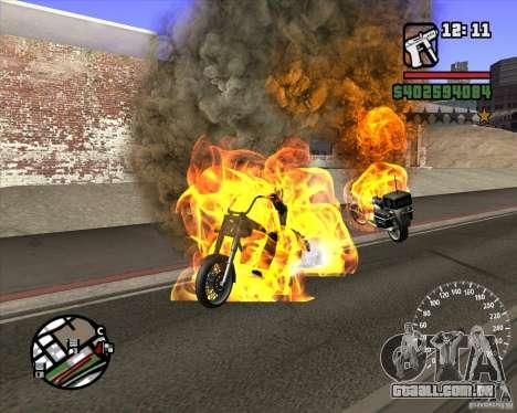 Ghost Rider para GTA San Andreas segunda tela