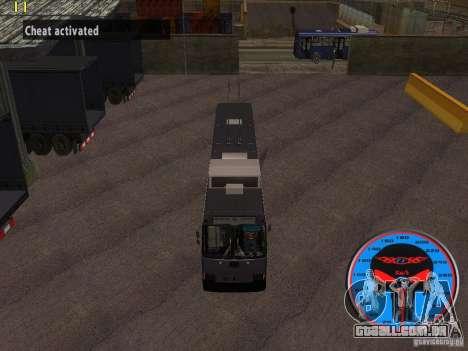Trólebus LAZ-52522 para GTA San Andreas vista traseira