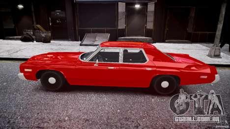 Dodge Monaco 1974 stok rims para GTA 4 esquerda vista
