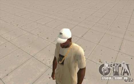 Umbro Cap white para GTA San Andreas