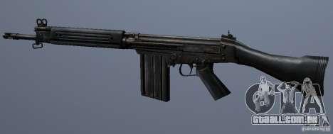 FN FAL para GTA San Andreas por diante tela
