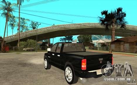 Dodge Ram 2500 2008 para GTA San Andreas traseira esquerda vista