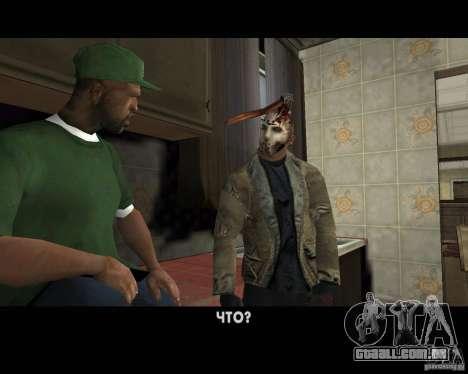 Jason Voorhees para GTA San Andreas nono tela