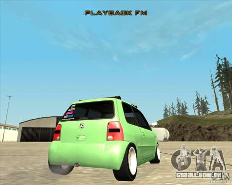 Volkswagen Lupo Hellaflush para GTA San Andreas vista interior