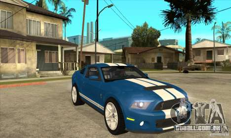 Ford Mustang Shelby GT500 2011 para GTA San Andreas vista interior