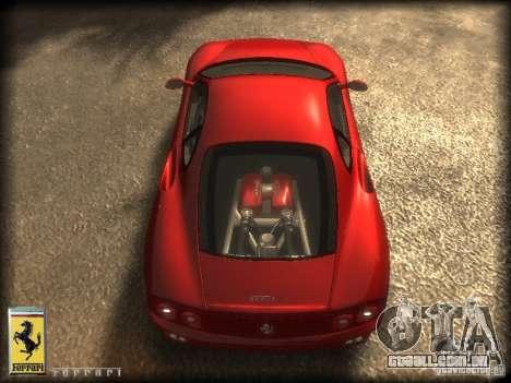 Ferrari 360 modena para GTA 4 vista direita