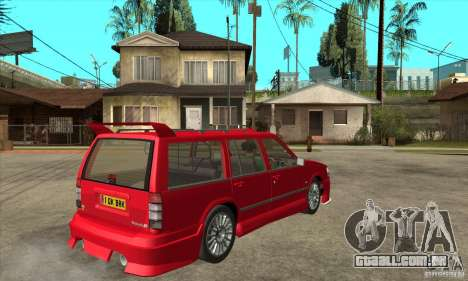 Volvo 945 Wentworth R with bodykit (1.2) para GTA San Andreas vista direita
