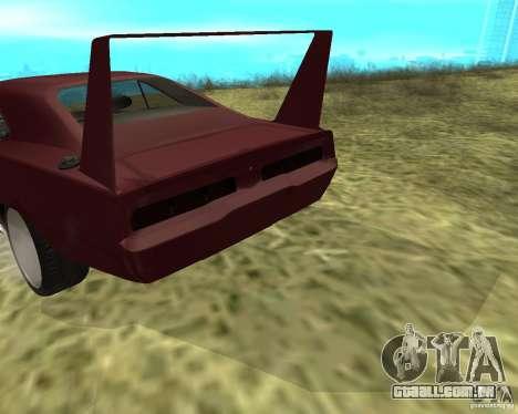 Dodge Charger Daytona para GTA San Andreas vista interior