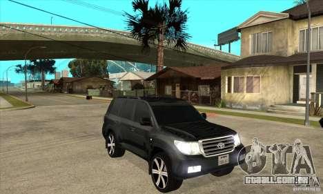 Toyota Land Cruiser 200 para GTA San Andreas vista traseira